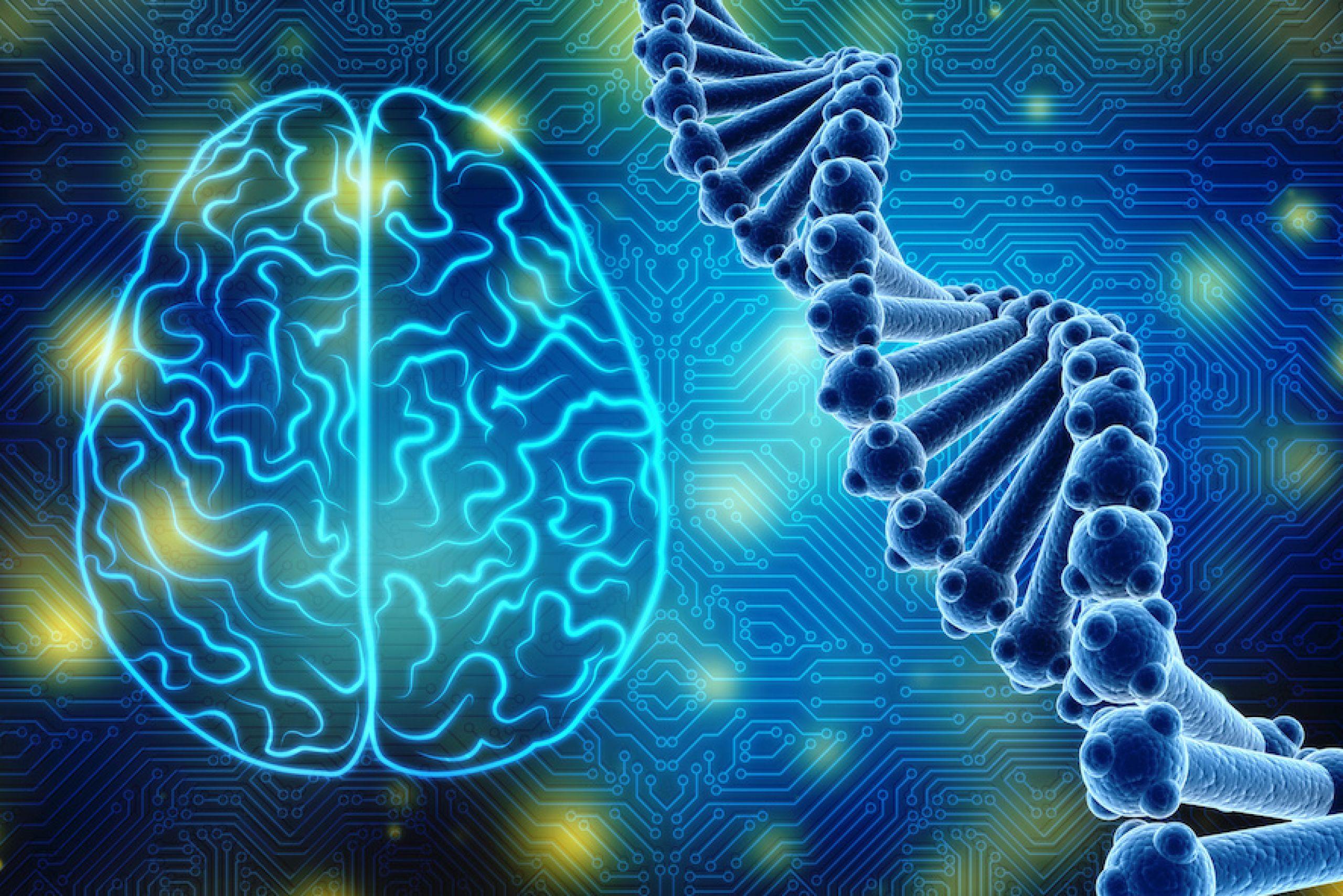 Amicus Therapeutics brains & DNA Helix diagram